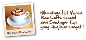 Hot Mocha Rum Latte