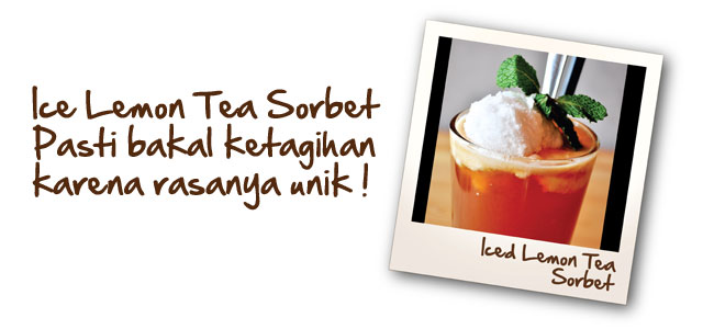 Iced Lemon Tea Sorbet