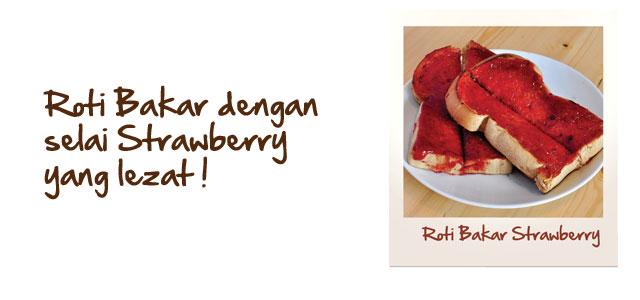 Roti Bakar Strawberry